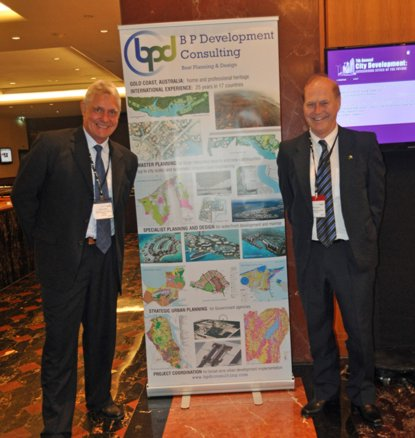 BPDC staff Gordon Rogers and Mark Windsor at the 7th Annual City Development - Envisioning Cities of the Future Conference