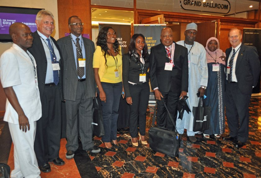 7th Annual City Development - Envisioning Cities of the Future Conference - BPDC staff with delegates from Kenya and Nigeria