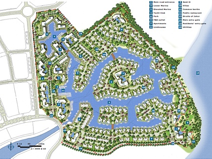 Emerald Bay Residential Waterway Community, Johor, Malaysia - Master Plan